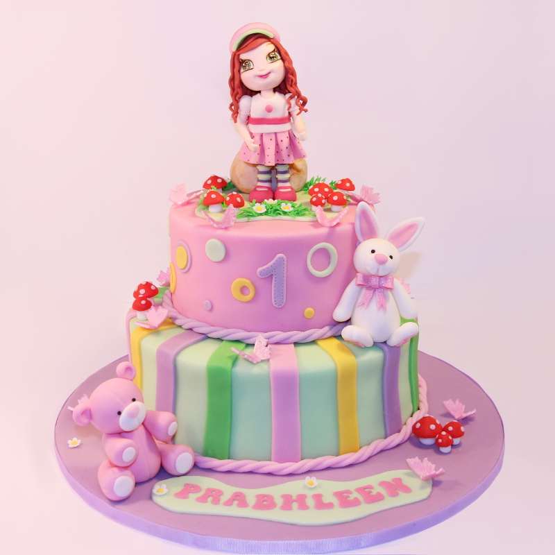 Doll and Friends Birthday Cake