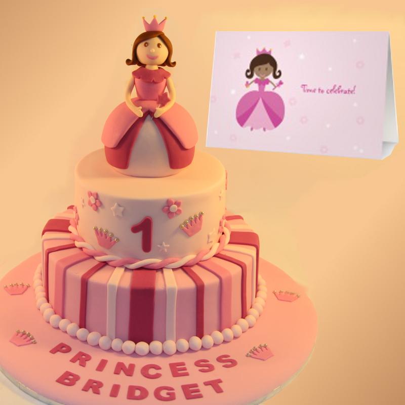 Girls birthday cakes christening cakes the ponds sydney princess invitation card birthday cake stopboris Gallery